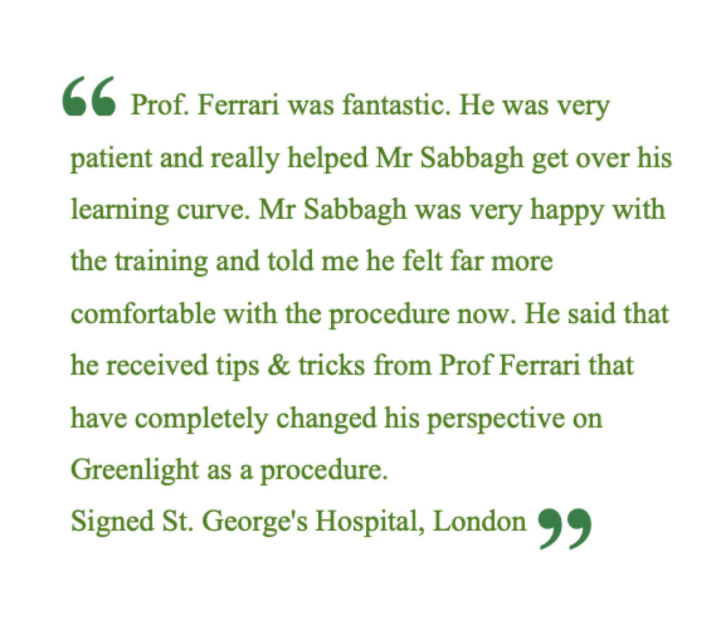 Giovanni-Ferrari-Urolgo-Feedback-Dr-SSamer-Sabbagh-St-Georges-Hospitalpotal-UK