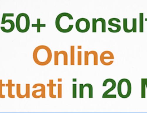 250+ Consulti Online effettuati in 20 mesi