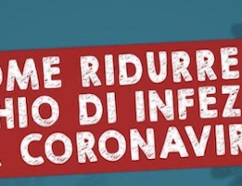 Come ridurre il rischio di infezione da Coronavirus